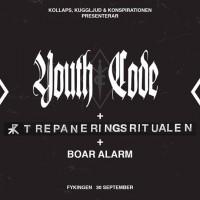 Liverapport: Youth Code (+Trepaneringsritualen, Boar Alarm, Analfabetism) 20160930, Stockholm